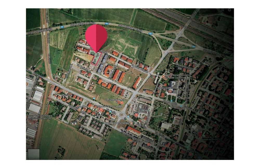 localizzazione area realizzazione Anzola dell'Emilia