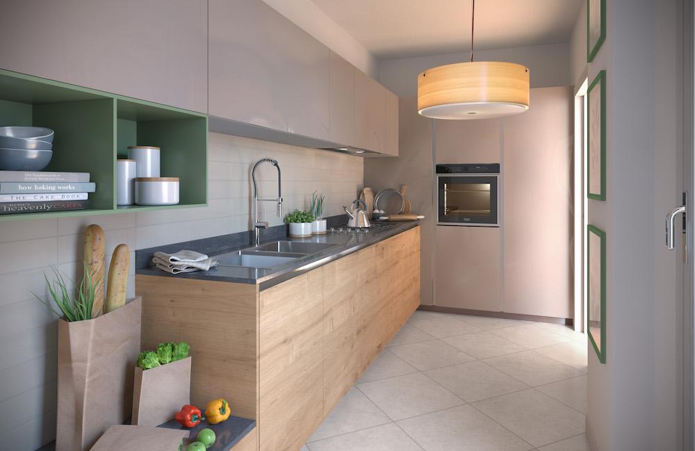 cucina appartamento tipo B