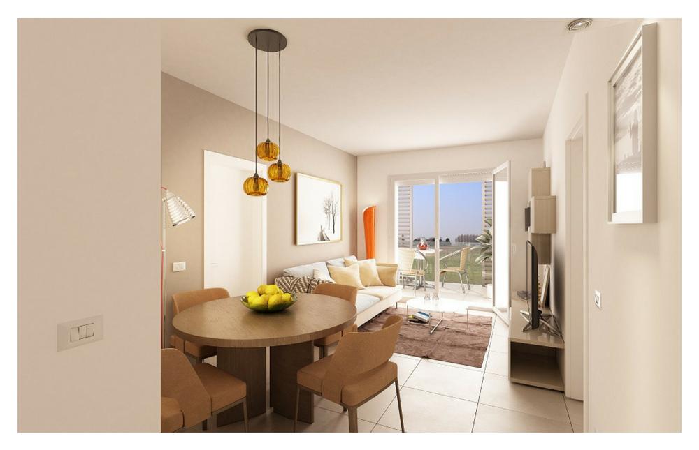 Edificio A  Appartamento 2 e 6 Living
