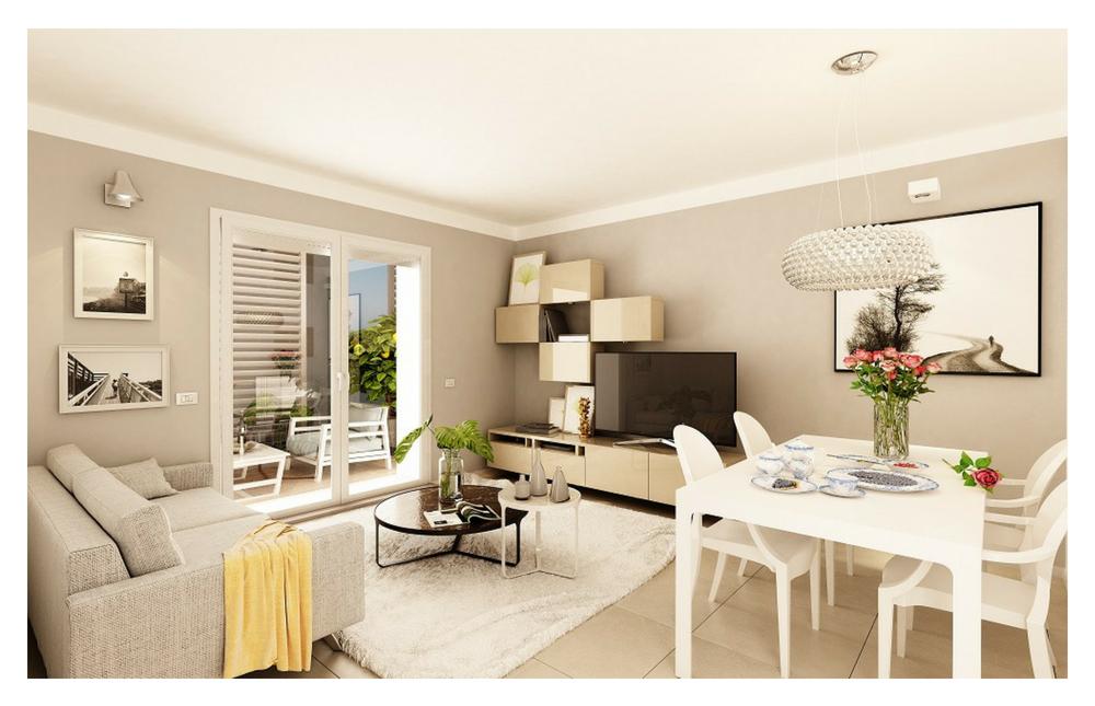 Edificio B Appartamento 3 -5  Living