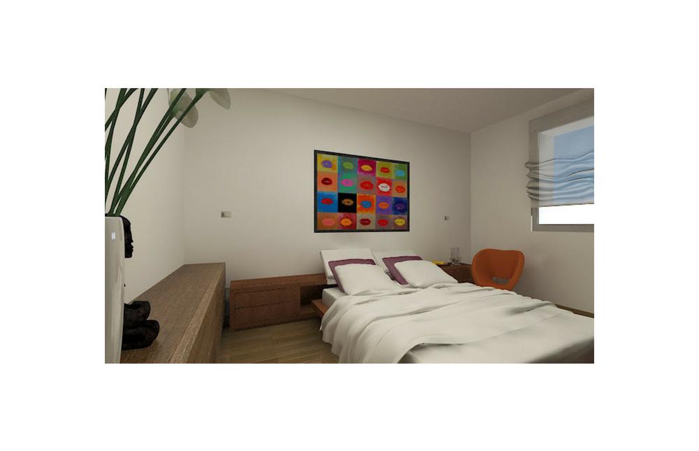 camera matrimoniale appartamento 16 vista 2