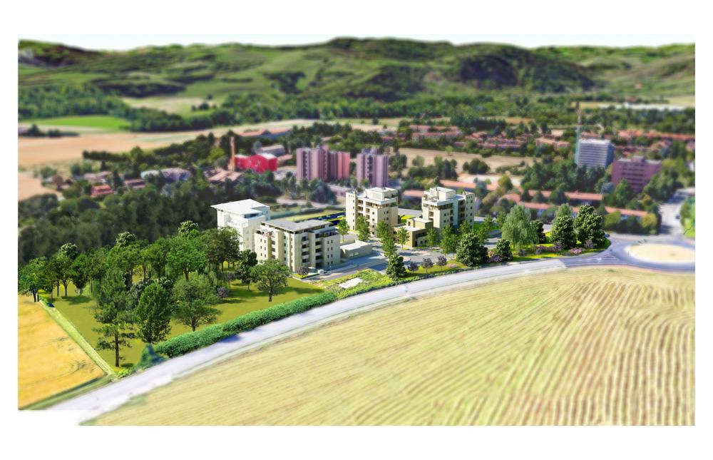 panoramica complesso residenziale Le Mura