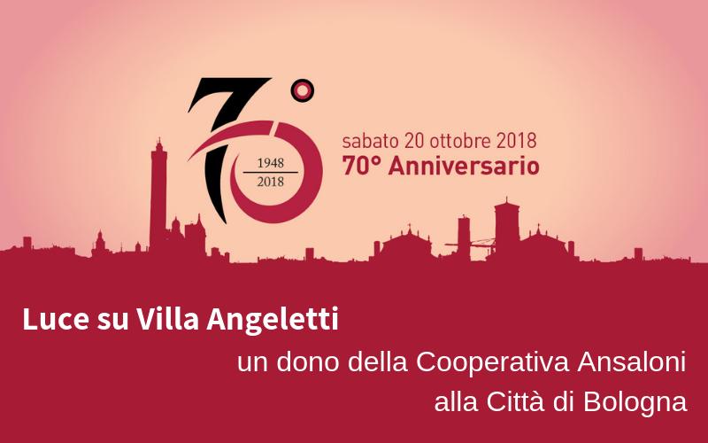 Celebrazione per il 70° anniversario della Cooperativa Ansaloni a Villa Angeletti
