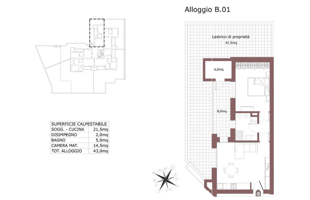 Edilizia convenzionata – San Lazzaro di Savena appartamento 1 B – Le Mura – SL9 AB