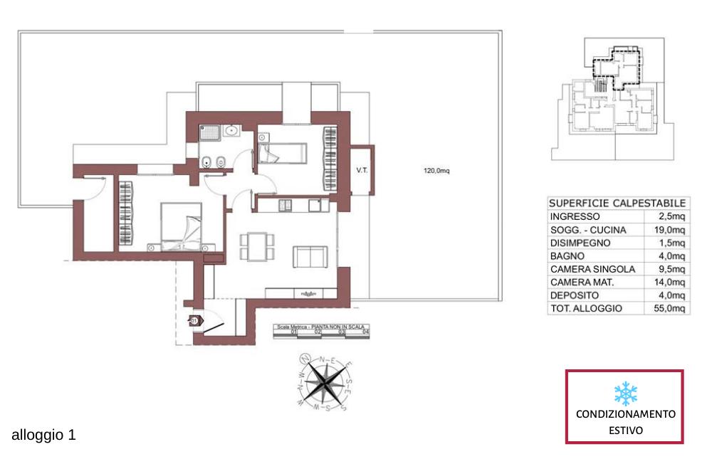 Ozzano dell'Emilia appartamento 1 – Via Impastato – OZ9 A2
