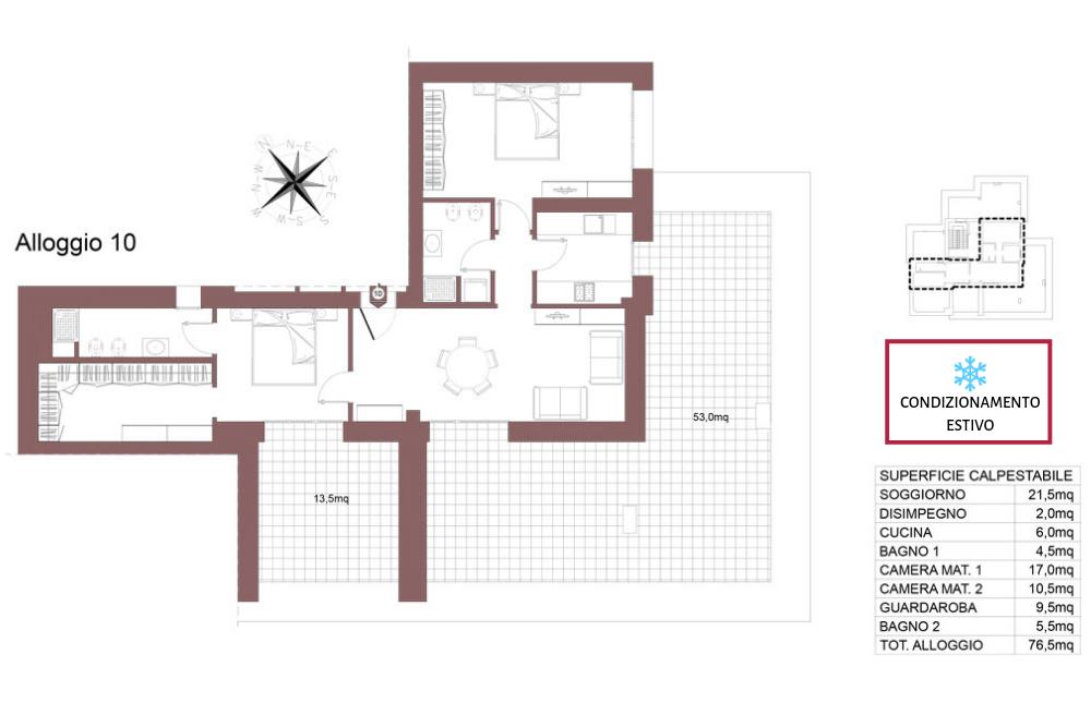 Ozzano dell'Emilia attico 10 – Via Impastato – OZ9 A2
