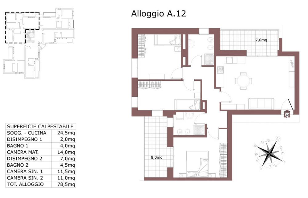 pianta appartamento 12 A