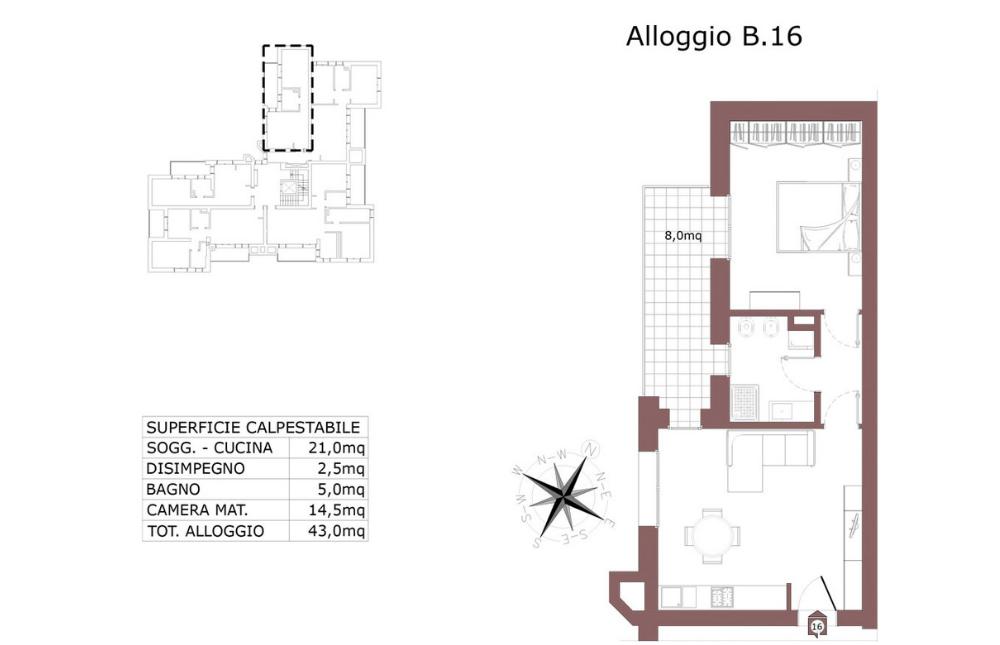 Edilizia convenzionata – San Lazzaro di Savena appartamento 16 B – Le Mura – SL9 AB
