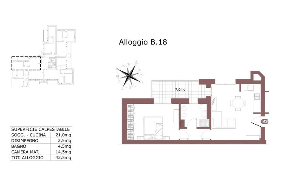 Edilizia convenzionata – San Lazzaro di Savena appartamento 18 B – Le Mura – SL9 AB