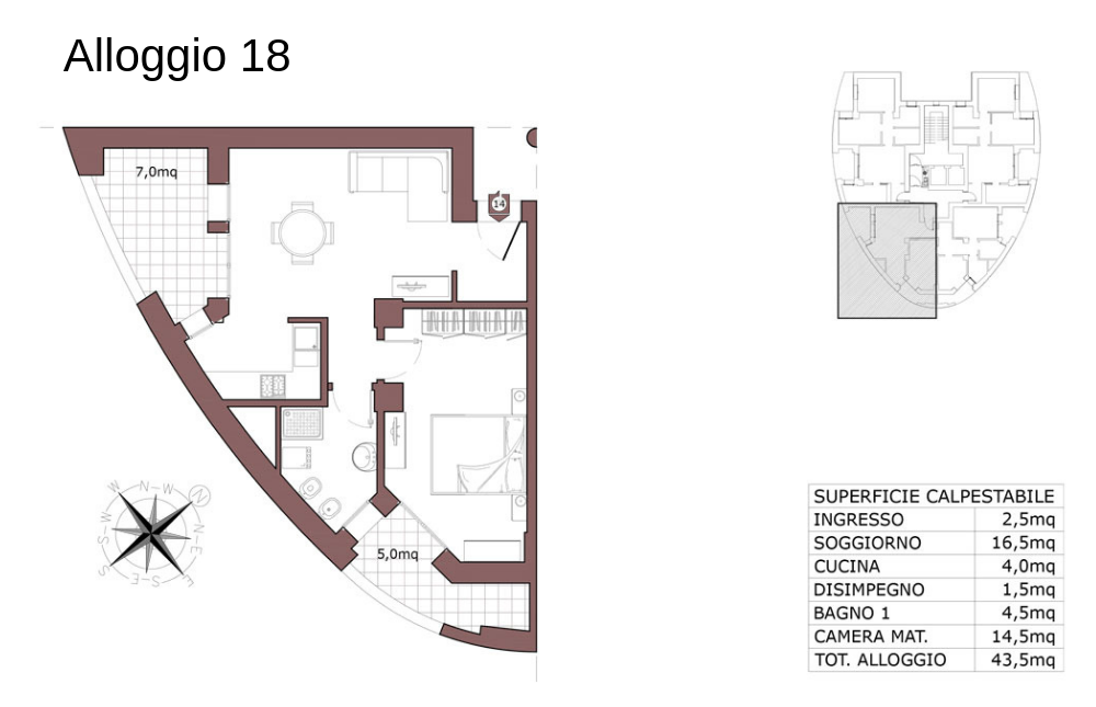 Calderara di Reno appartamento 18 – Le Torri – CL19