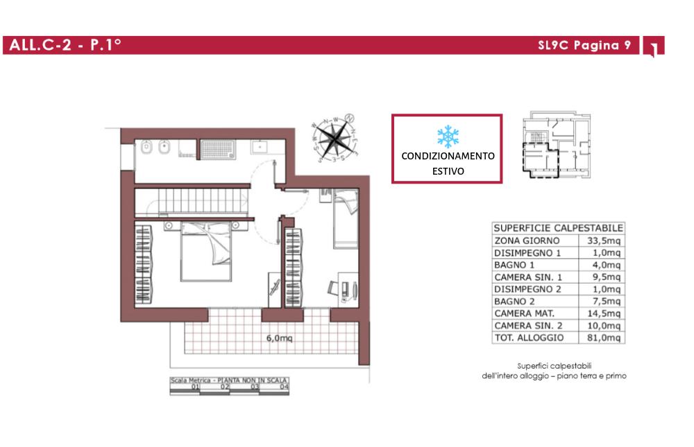 pianta primo piano- alloggio 2