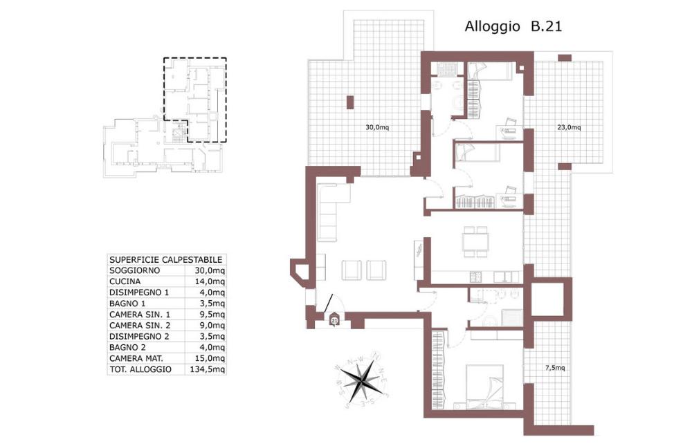 San Lazzaro di Savena attico 21 B- Le Mura – SL9AB