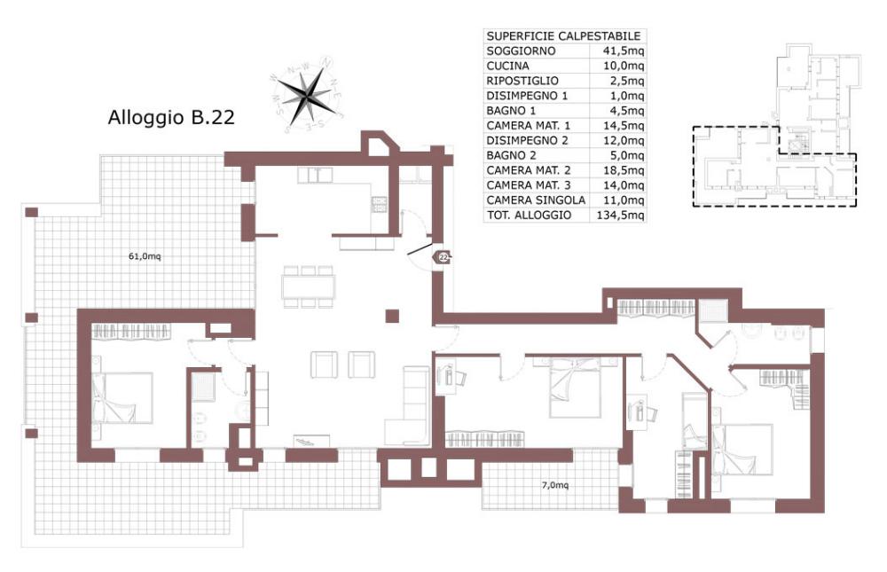 San Lazzaro di Savena attico 22 B – Le Mura – SL9AB