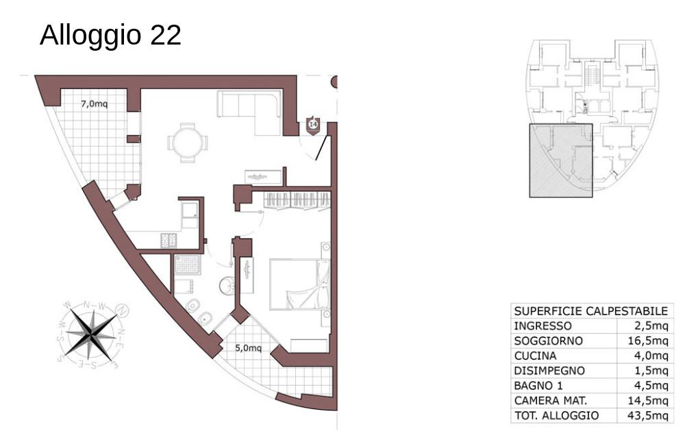 Calderara di Reno appartamento 22 – Le Torri – CL19