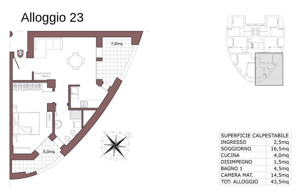 Calderara di Reno appartamento 23 – Le Torri – CL19