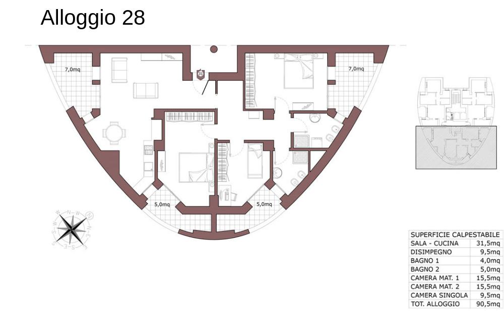 Calderara di Reno appartamento 28 – Le Torri – CL19