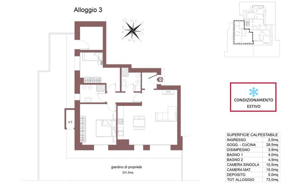 Ozzano dell'Emilia appartamento 3 – Via Impastato – OZ9 A2