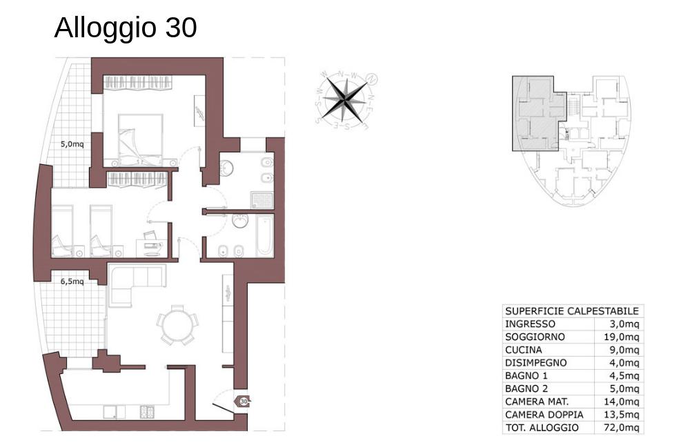 Calderara di Reno appartamento 30 – Le Torri – CL19