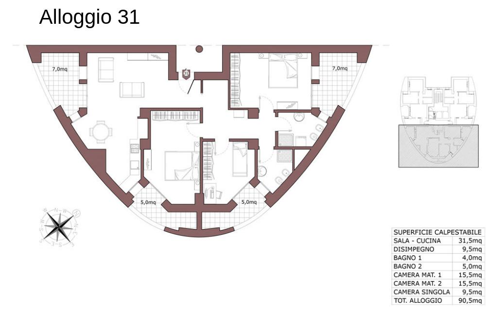 Calderara di Reno appartamento 31 – Le Torri – CL19