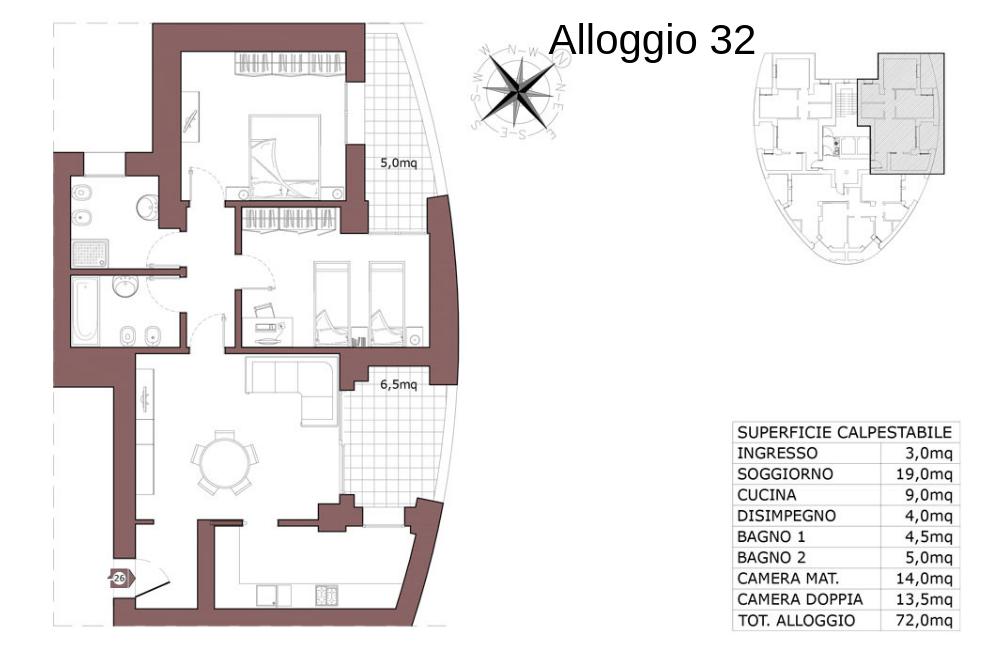 Calderara di Reno appartamento 32 – Le Torri – CL19