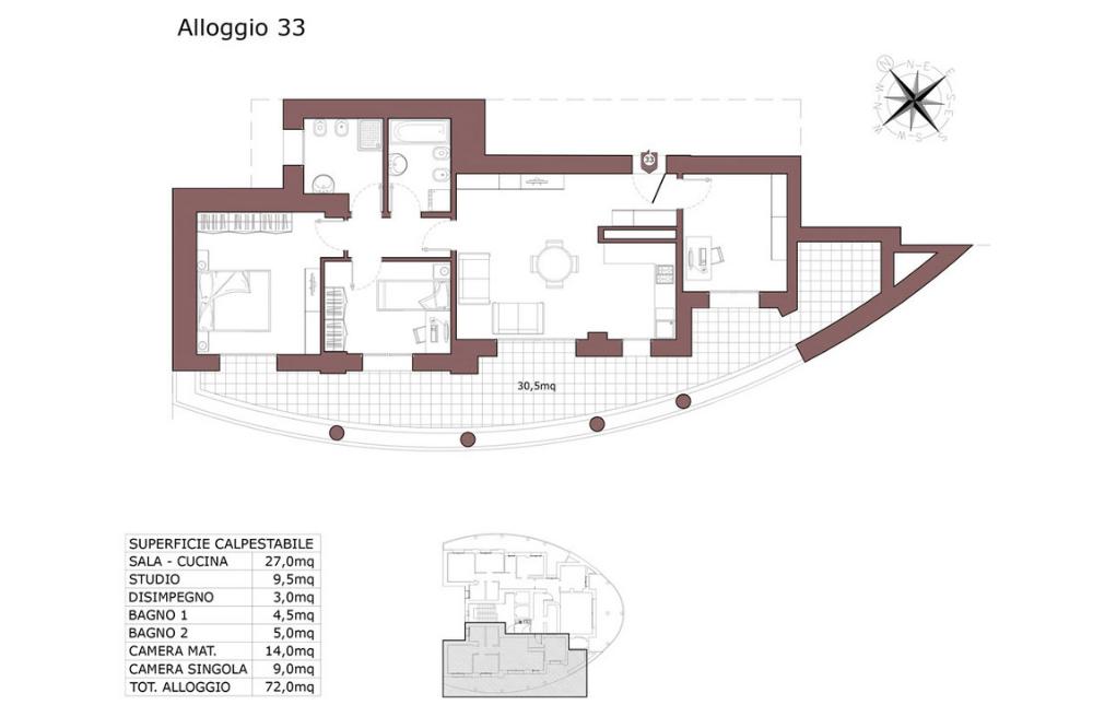 Calderara di Reno appartamento 33 – Le Torri – CL19
