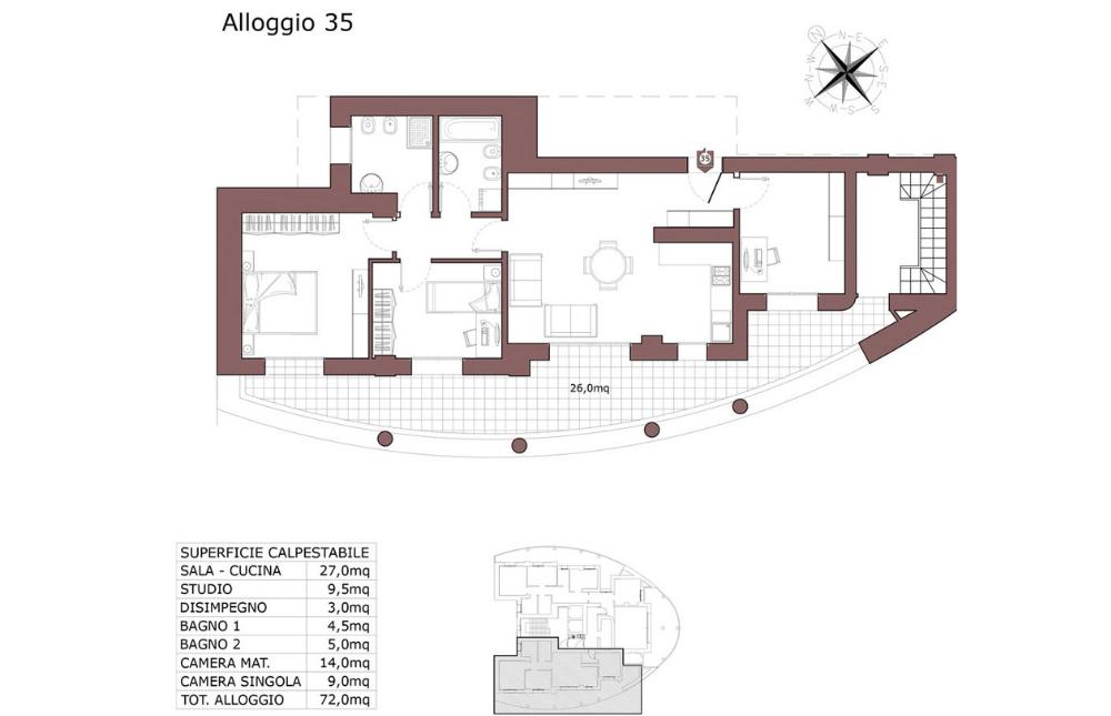 Calderara di Reno attico 35 – Le Torri – CL19