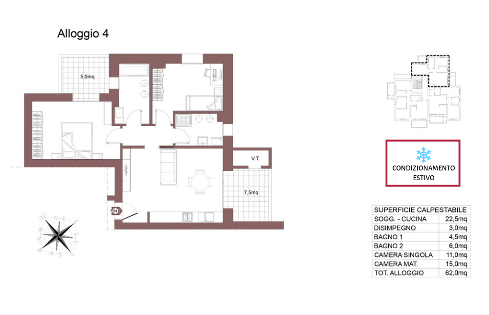 Ozzano dell'Emilia appartamento 4 – Via Impastato – OZ9 A2