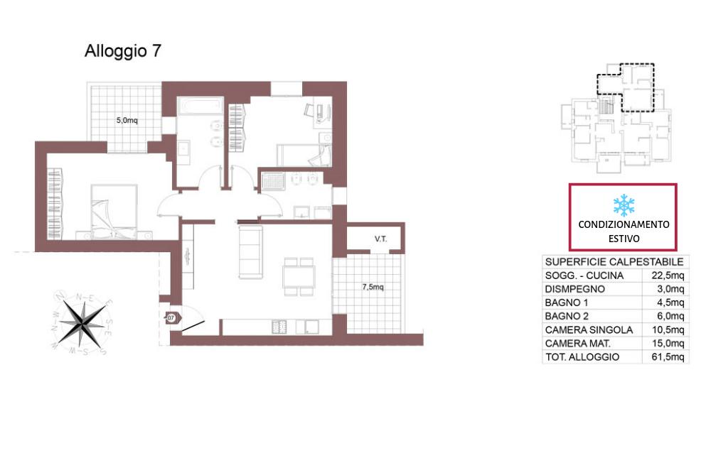 Ozzano dell'Emilia appartamento 7 – Via Impastato – OZ9 A2