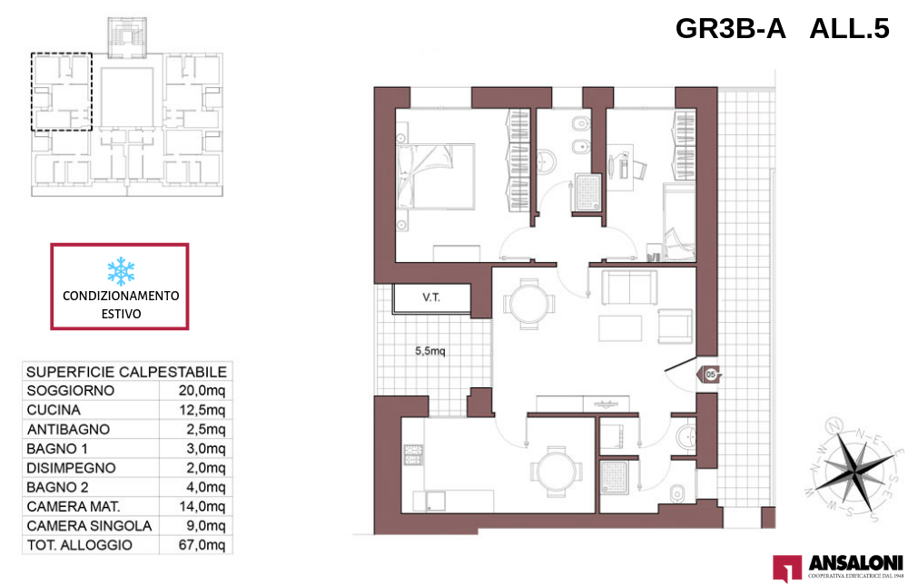 Granarolo dell'Emilia appartamento 5A – Via Carducci – GR3B