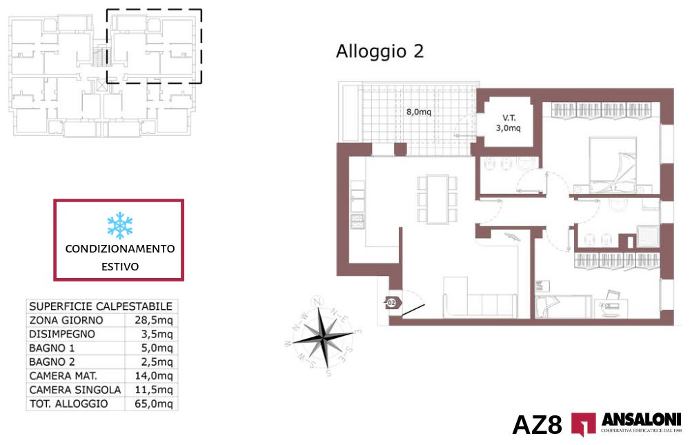 Anzola dell'Emilia appartamento 2 – tra Via Costa Torquato e Via Lodi – AZ8