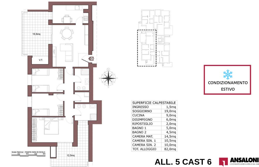Castenaso appartamento 5 – tra Via Majorana e via Fermi – CAST 6