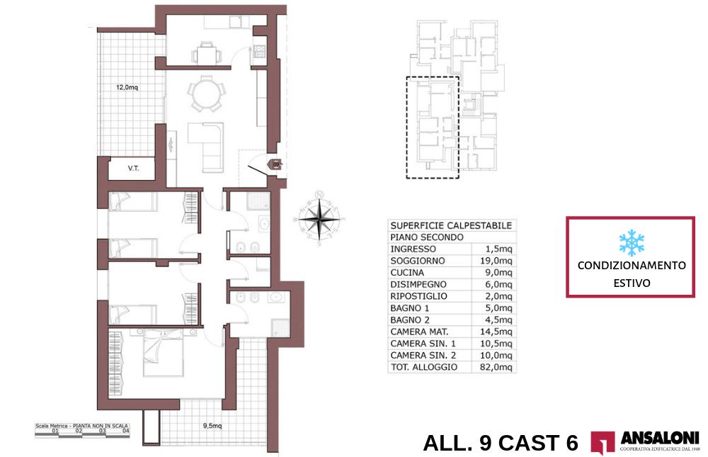 Castenaso appartamento 9 – tra Via tra Via Majorana e via Fermi – CAST 6