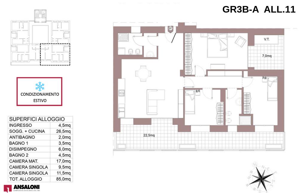 Granarolo dell'Emilia appartamento 11A – Via Carducci – GR3B