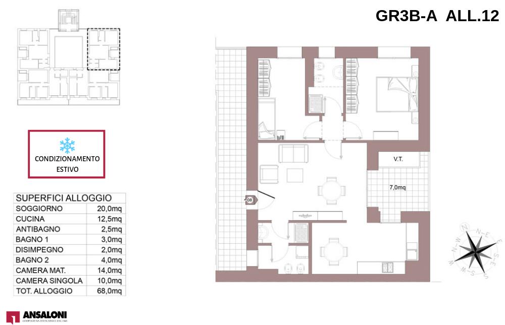 Granarolo dell'Emilia appartamento 12A – Via Carducci – GR3B