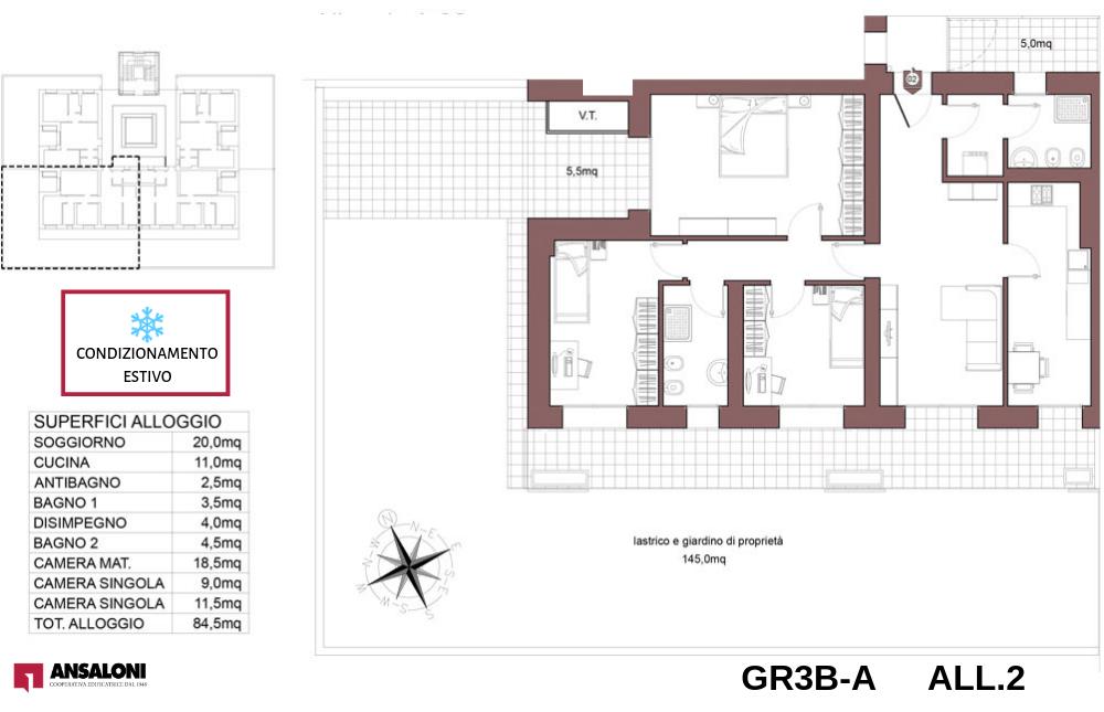 Granarolo dell'Emilia appartamento 2A – Via Carducci – GR3B
