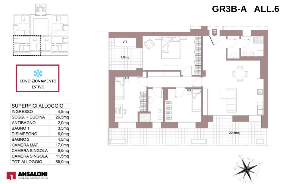 Granarolo dell'Emilia appartamento 6A – Via Carducci – GR3B