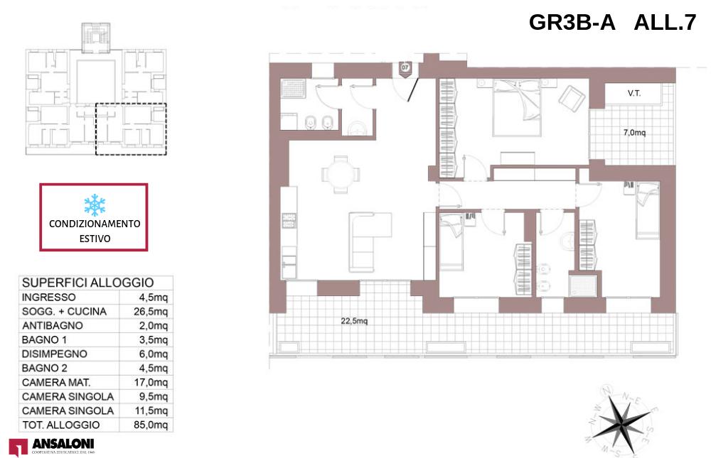 Granarolo dell'Emilia appartamento 7A – Via Carducci – GR3B