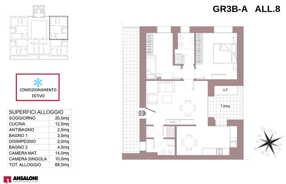Granarolo dell'Emilia appartamento 8A – Via Carducci – GR3B