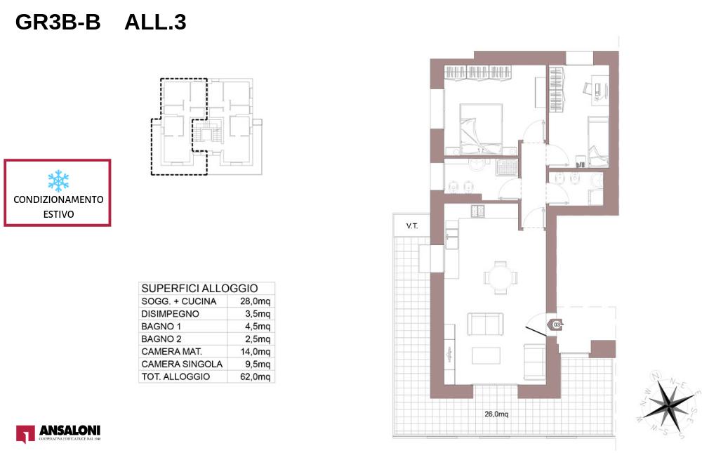 Granarolo dell'Emilia appartamento 3B – Via Carducci – GR3B