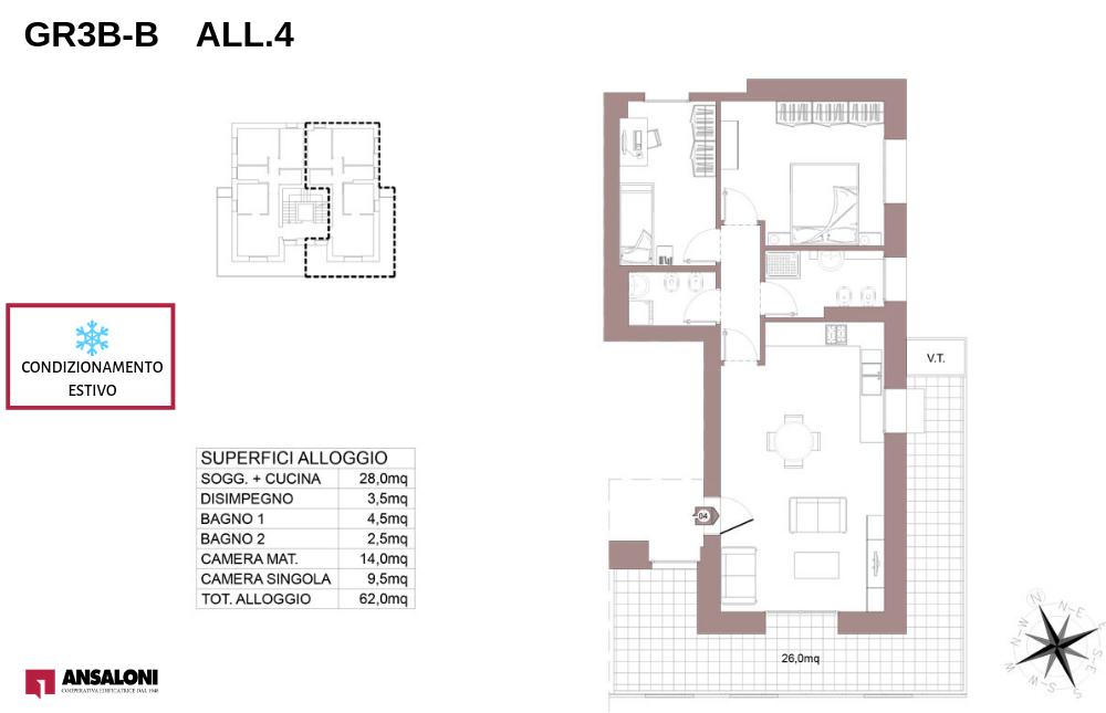 Granarolo dell'Emilia appartamento 4B – Via Carducci – GR3B