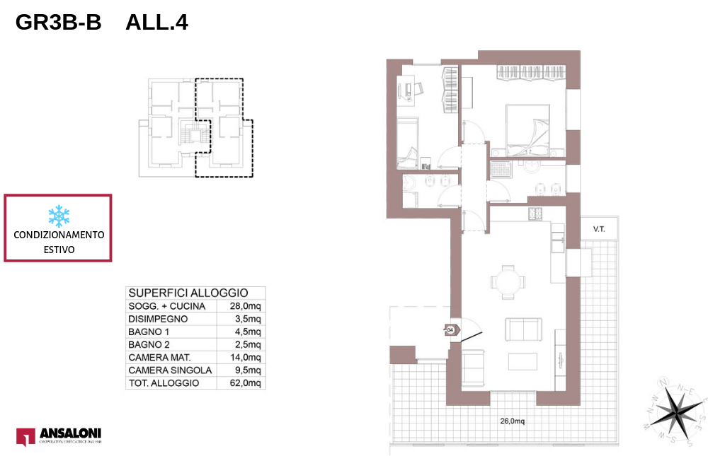 pianta appartamento B 4