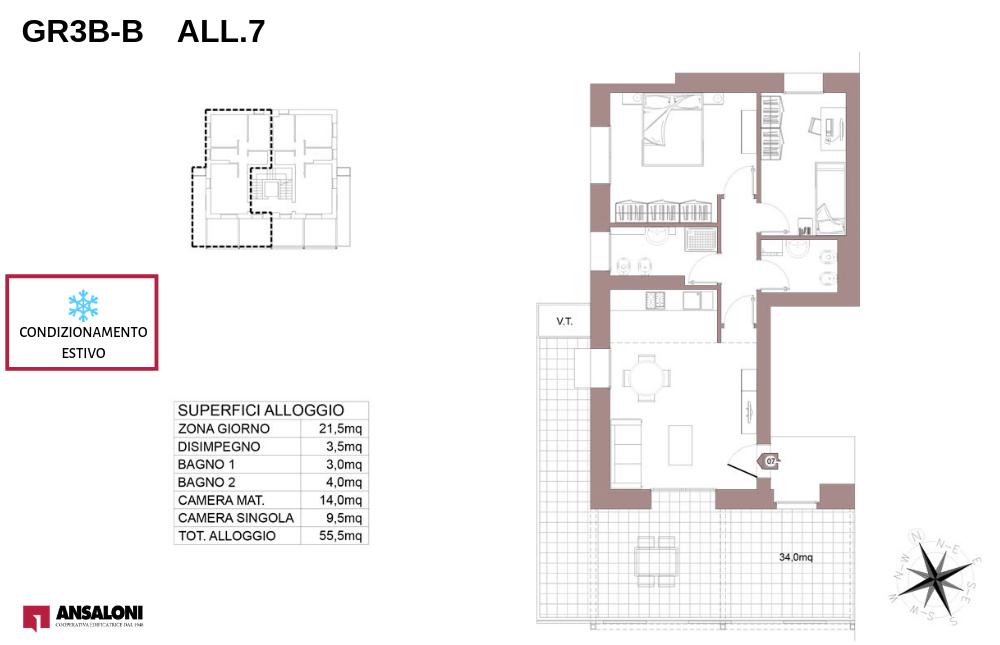 Granarolo dell'Emilia appartamento 7B – Via Carducci – GR3B