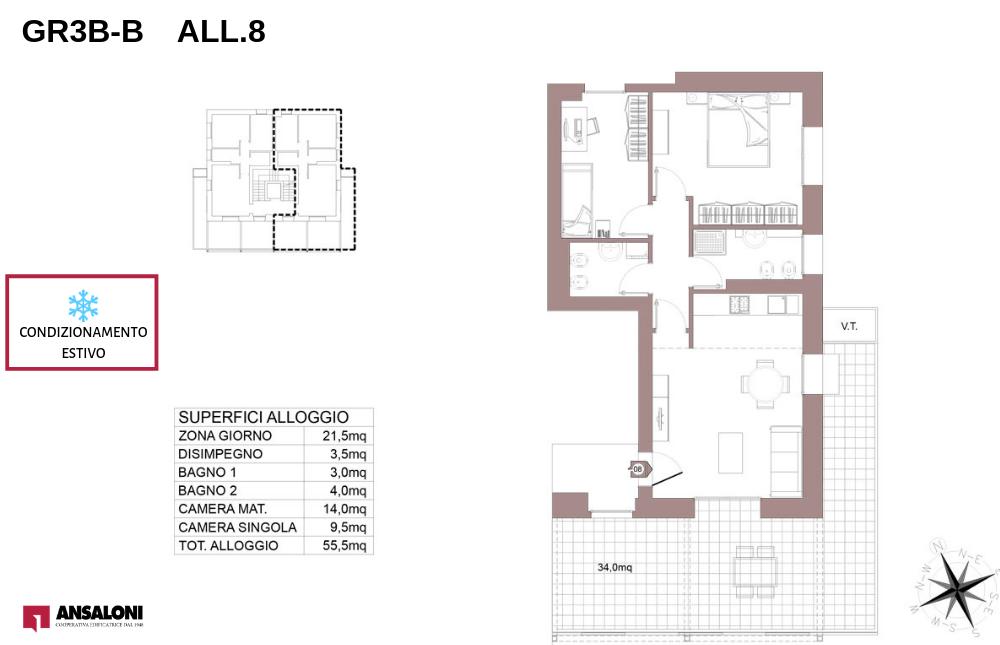 Granarolo dell'Emilia appartamento 8B – Via Carducci – GR3B