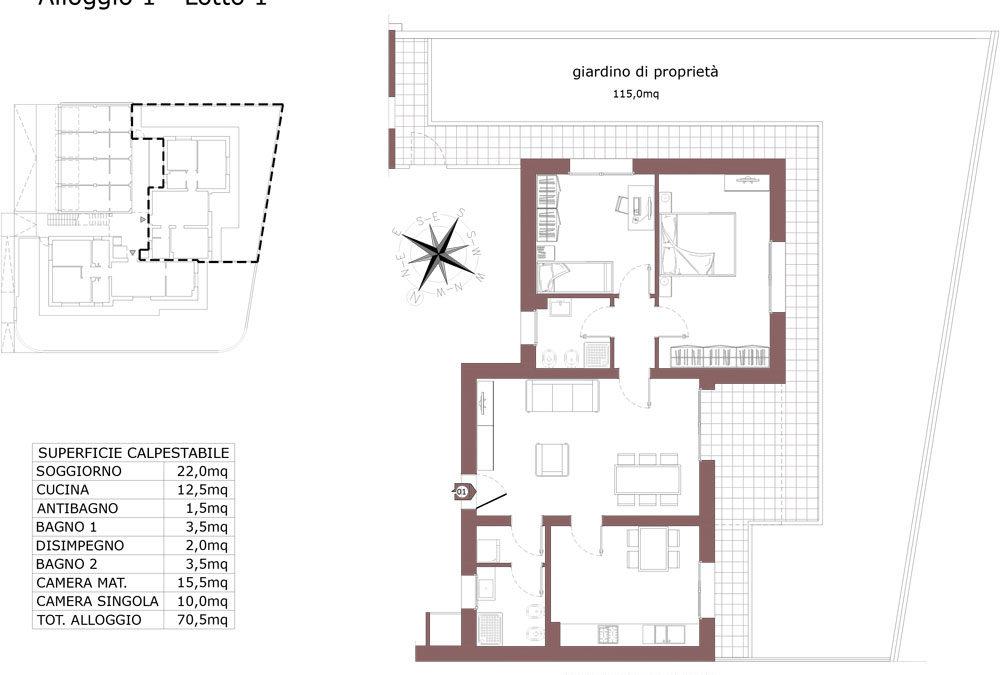 Zola Predosa appartamento 1- Lotto 1- Gessi-  ZP24