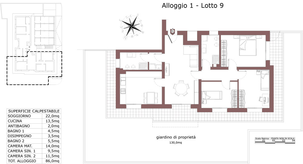 Zola Predosa appartamento 1 – Lotto 9- Gessi-  ZP24