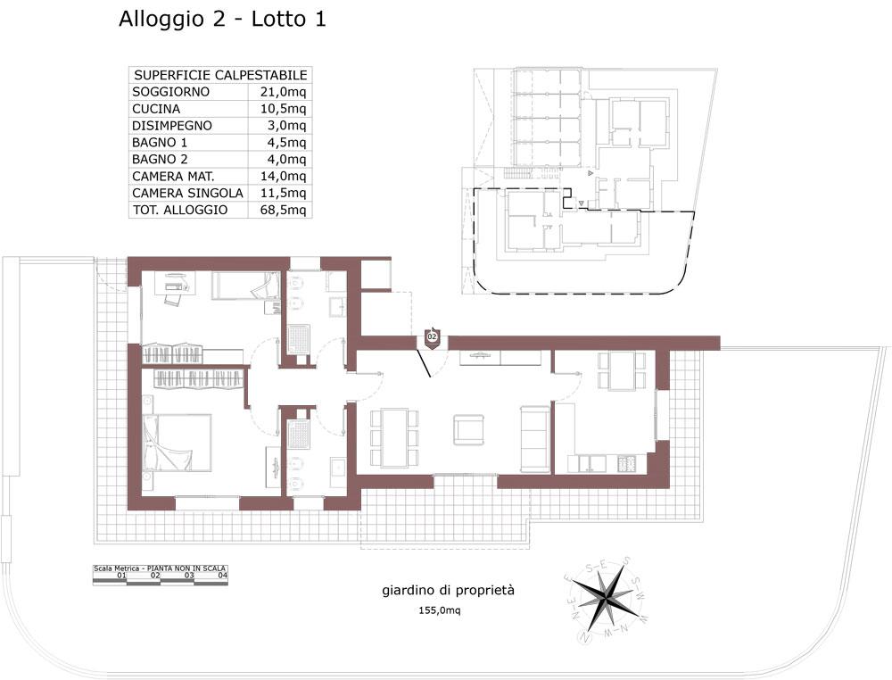 Zola Predosa appartamento 2 – Lotto 1- Gessi-  ZP24