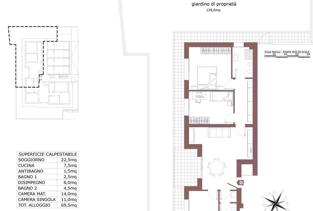 Zola Predosa appartamento 2  – Lotto 9- Gessi-  ZP24