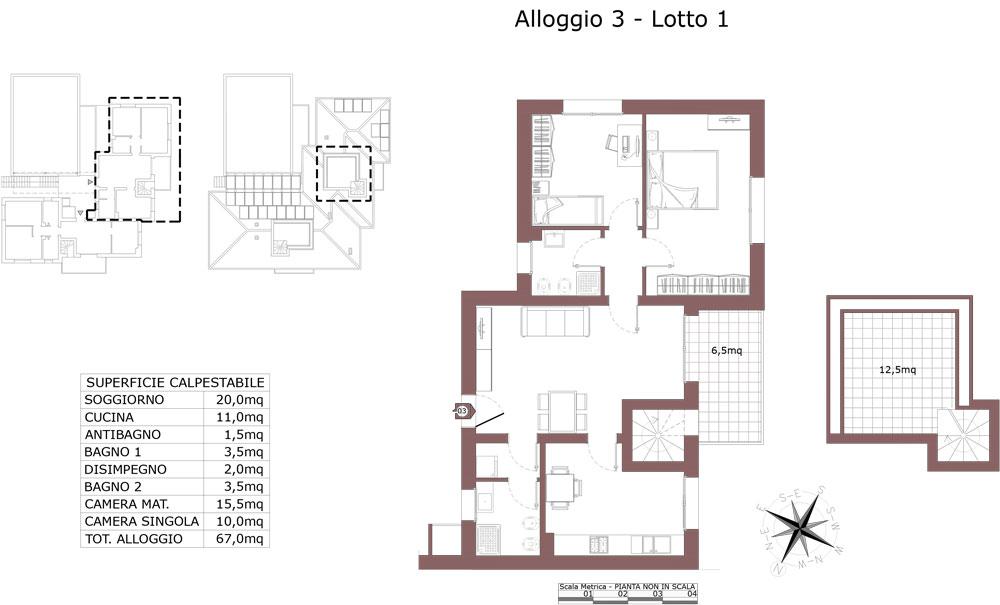 Zola Predosa appartamento 3 – Lotto 1- Gessi-  ZP24