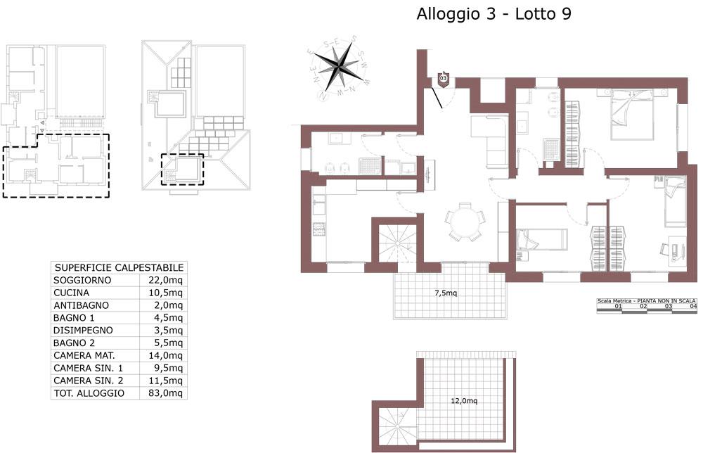 Zola Predosa appartamento 3 – Lotto 9- Gessi-  ZP24