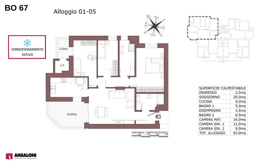 pianta appartamento 1-5